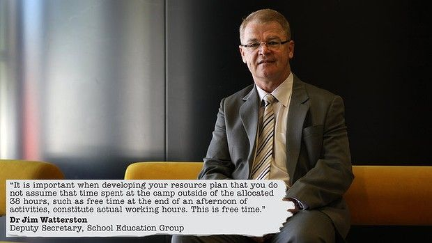 Dr Jim Watterson with part of the controversial Victorian Education Department (Australia) memo to principals.  Apparently outside of school hours time on a school camp  is not working! Unbelieveable!