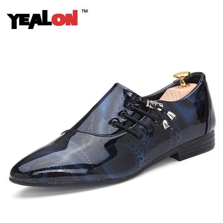 Encontrar Más Calzado vulcanizado hombre Información acerca de YEALON Marca de Lujo de Los Hombres Zapatos de Los Hombres Zapatos de Los Planos de Los Hombres Zapatos de Charol Casual Zapatos Oxford Para Los Hombres de La Nueva Manera 5 colores, alta calidad perro zapatos zapatos para correr, China zapatero para botas Proveedores, barato zapatos de lona convers de YEALON Franchised Store en Aliexpress.com