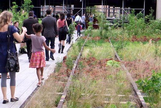 """廃線になった高架線路を""""空中公園""""にするビッグプロジェクト「The High Line」の完成予想図はコレだ!"""