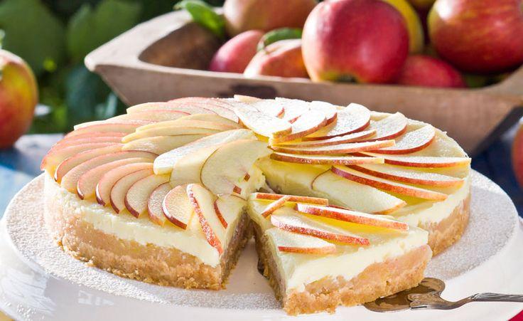 Lyxig äppelkaka med vit choklad