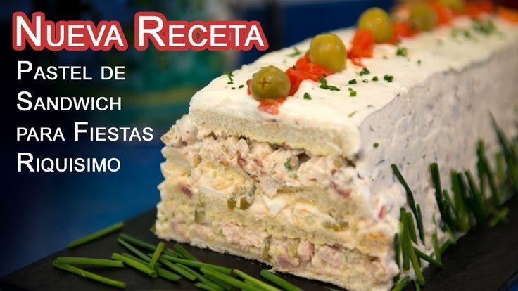 Nueva Receta Pastel de Sandwich para Fiestas Riquisimo
