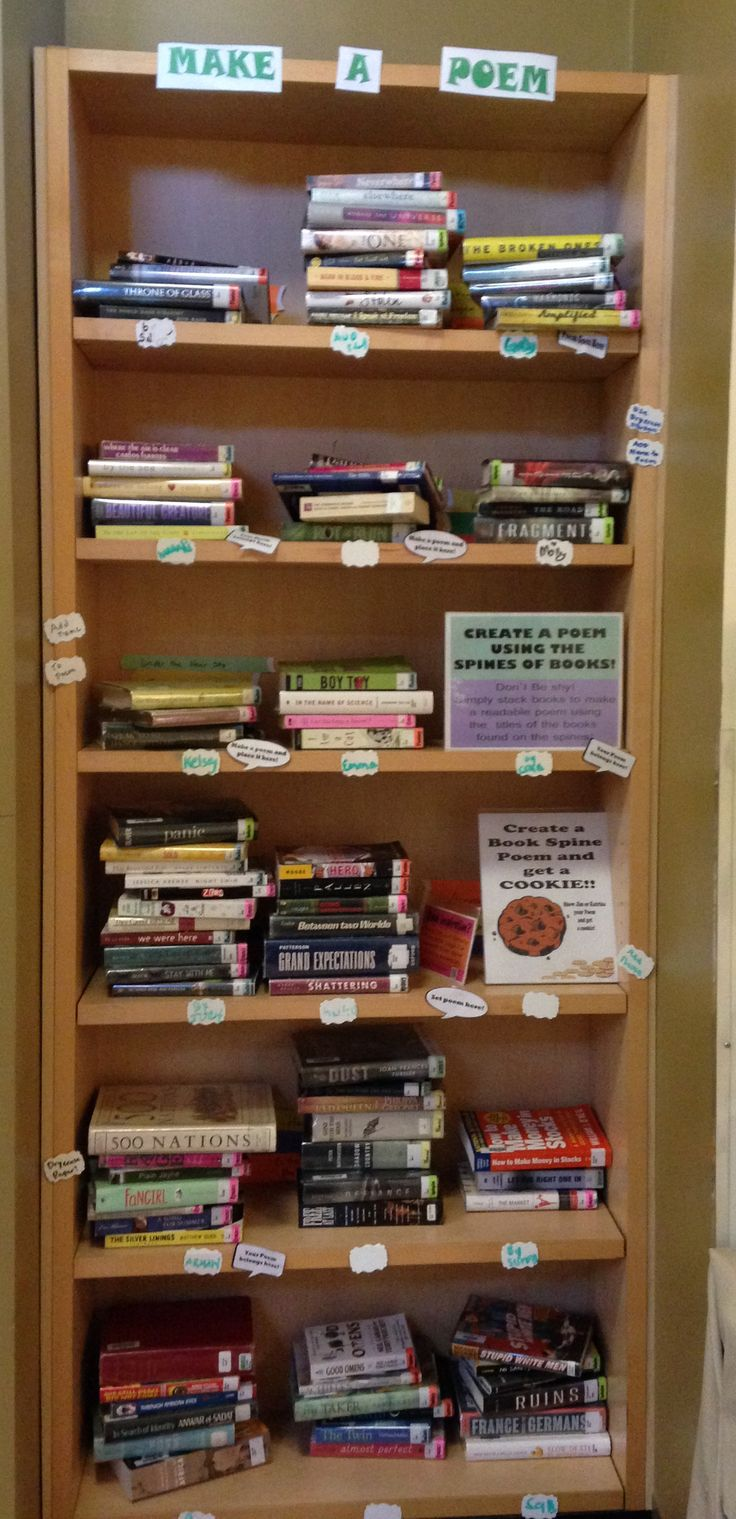 Book Spine Poetry Display