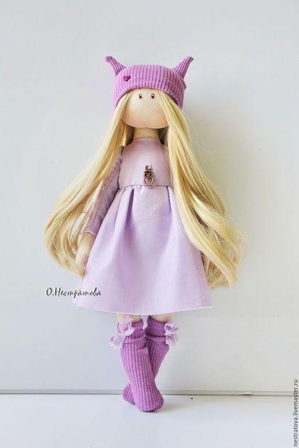 Fabric doll / Коллекционные куклы ручной работы. Совушка. Интерьерная кукла.. Олеся. Интернет-магазин Ярмарка Мастеров. Кукла ручной работы, подарок