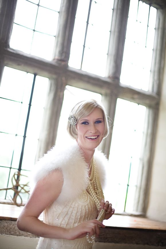 A Beaded Flapper Dress and Pearls for a 1920's Style Wedding...