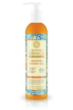 Gel de ducha de Oblepikha, nutricion e hidratacion intensiva 400ml - Pasthel todo para tu piel, cosmética natural. Tienda online ecológica