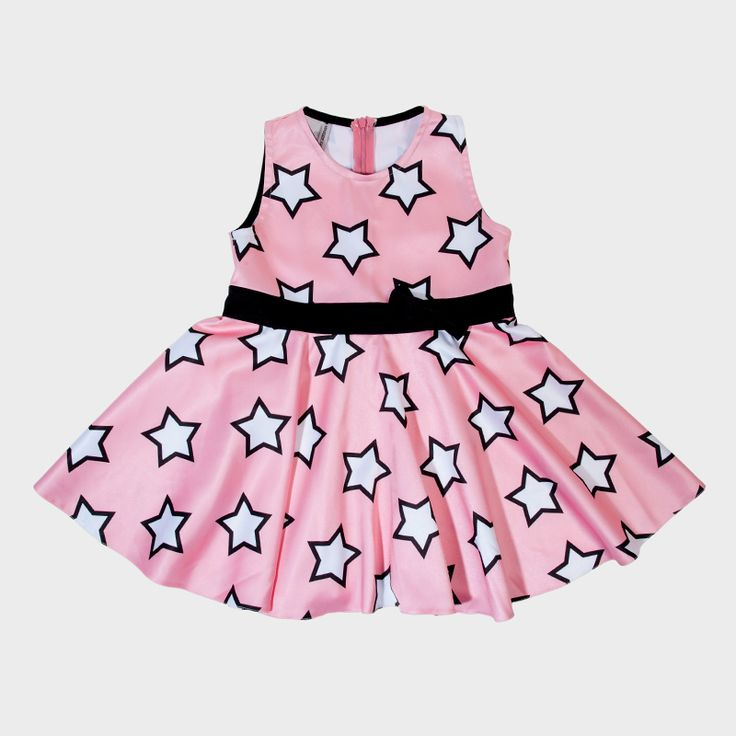 Pink dress with stars