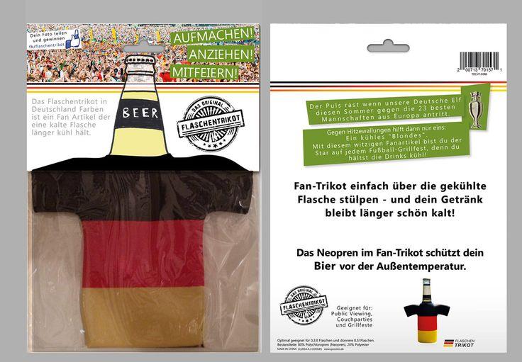 Flaschenkühler für Deutschland Fans - Der Fanartike im Deutschland-Trikot Look.