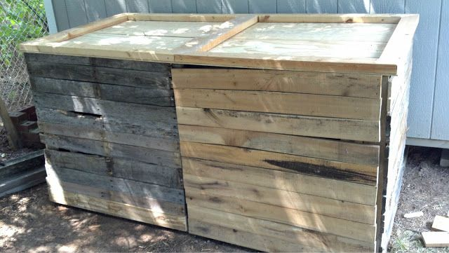 2 Compartment Wooden Compost Bin With Lid And Doors - tutorial