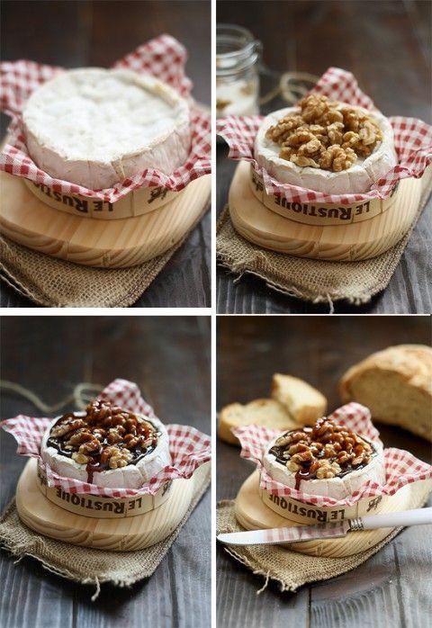 Aperitivos fáciles: Camembert con nueces