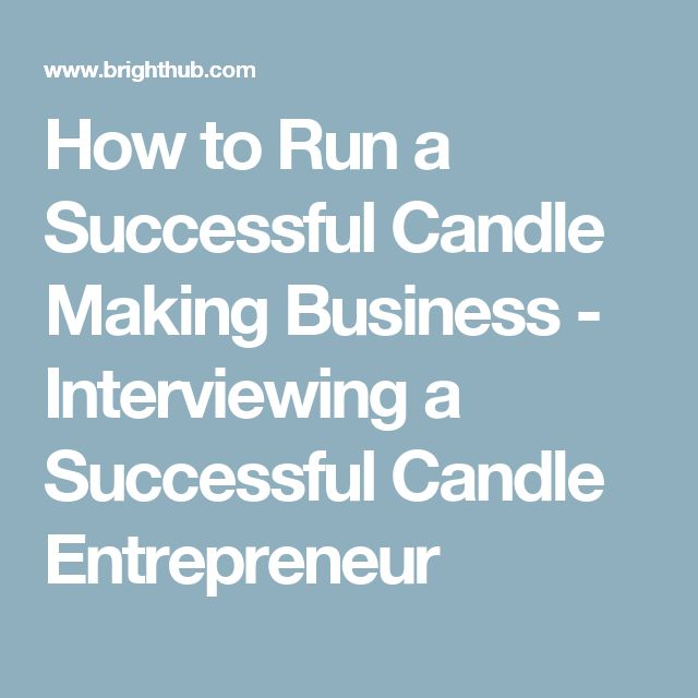 how to start a successful candle business
