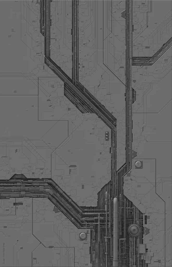 Tech Floor 1 , Neil Blevins on ArtStation at https://www.artstation.com/artwork/tech-floor-1