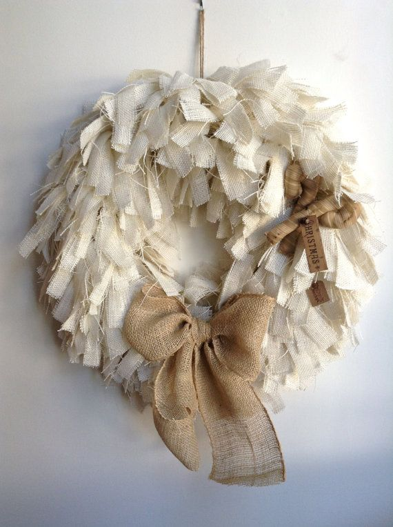 Best 25 burlap christmas wreaths ideas on pinterest Burlap xmas wreath
