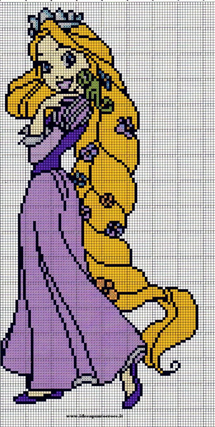 Rapunzel perler bead pattern