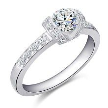 The charm of luxury - Ring with diamonds. TDW 0,72ct.