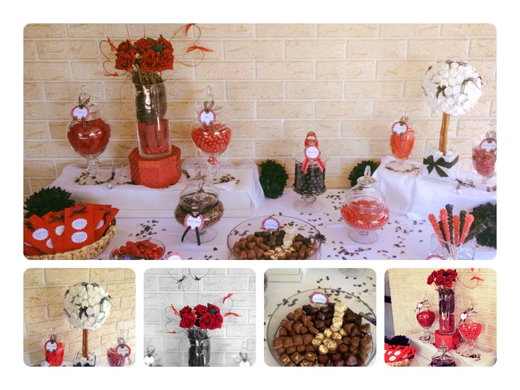 Red and Black 50th Candy Table
