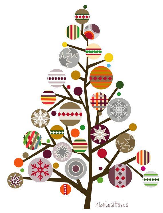 Vinilo decorative arbol de navidad Noel Vinilos por NicolasitoEs