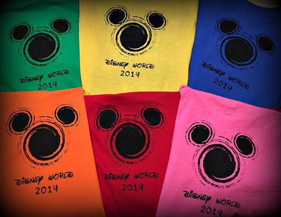 2014 or 2015 Matching Family Vacation Shirts Disney Shirt Disney Vacation Tshirts Mickey Mouse Head Swirl