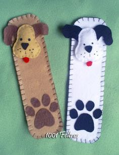 Felt bookmarks, no pattern