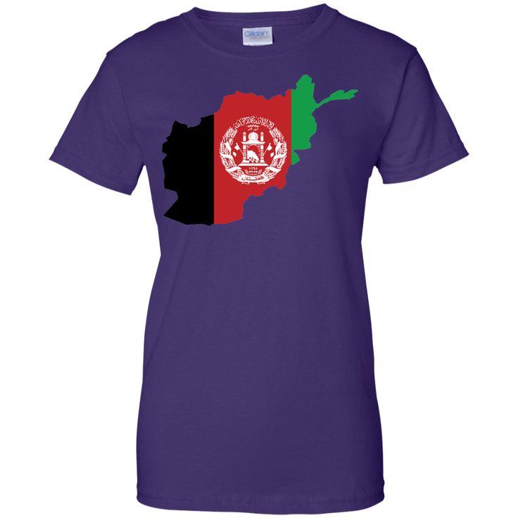 afghanistan flag -01 Ladies Custom 100% Cotton T-Shirt