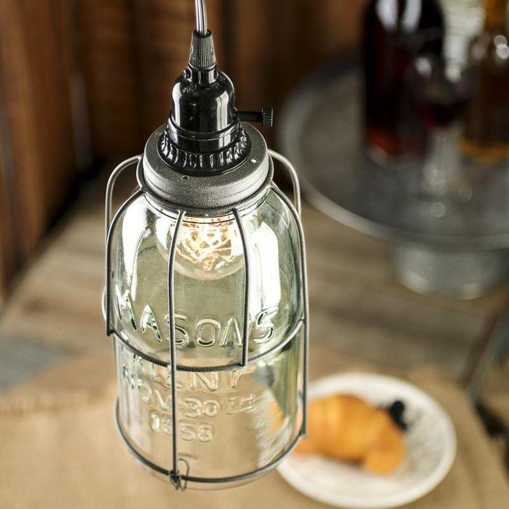 Large Mason Jar Pendant Lamp Kit