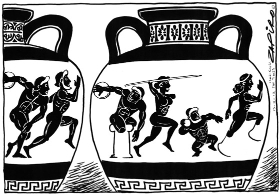 Modern Day vase representations for the Paralympics
