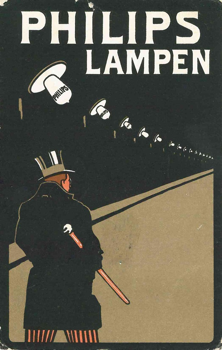 Philips lamps – The Man With The Top hat 1909 |