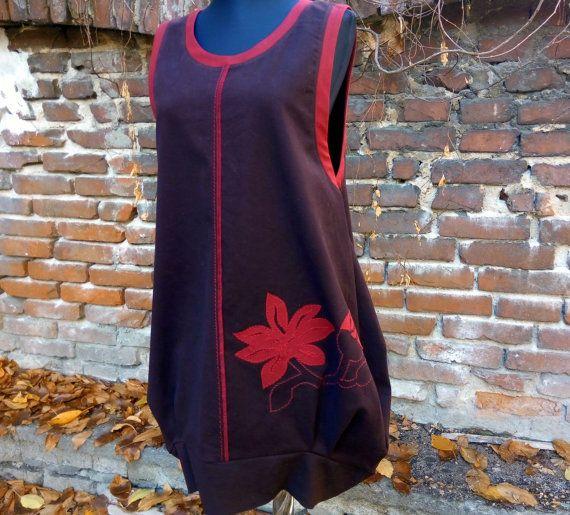 ABITO TOP TUNICA con un tessuto fiori Ladies di ModelianiClothing