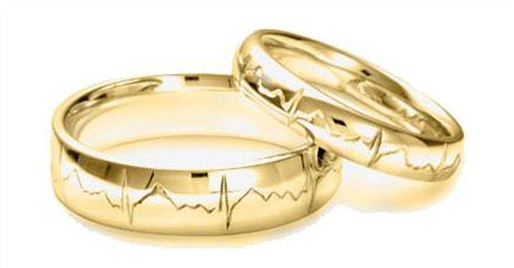 Alianzas de boda muy originales - con el ritmo del corazón