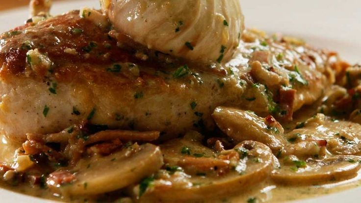 Chicken Supreme with bacon and mushroom recipe