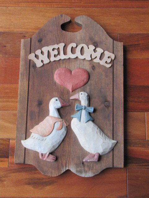 country goose decor cottage modern happy halloween from the family mascot