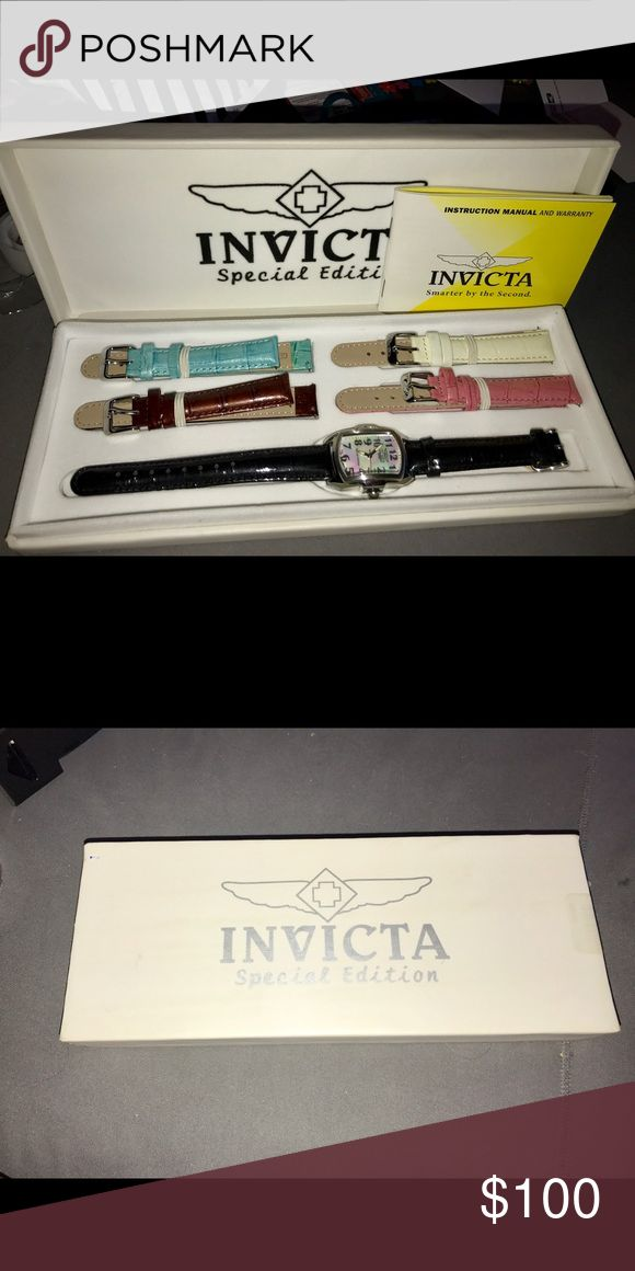 Invicta watch Special edition watch; brand new never worn. Comes with four extra changeable bands Invicta Jewelry