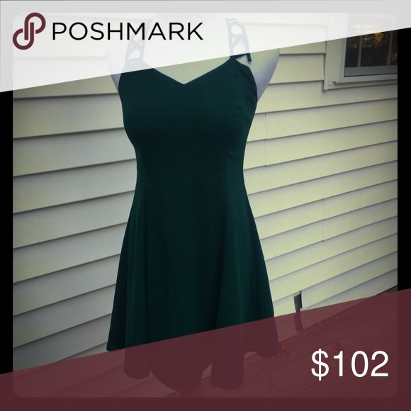 """VINTAGE Green dress Vintage CDC dress! UC, the strap needs a few stitches (see photos) • flat lay Chest: 16"""" Length 30"""" *all measurements are approximate* Caren Desirée Company Dresses Mini"""
