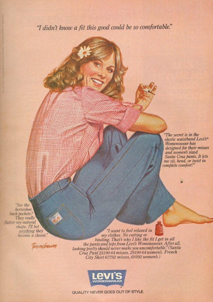 Levi's - 1979 | 1979 Fashion in 2019 | Vintage denim ...