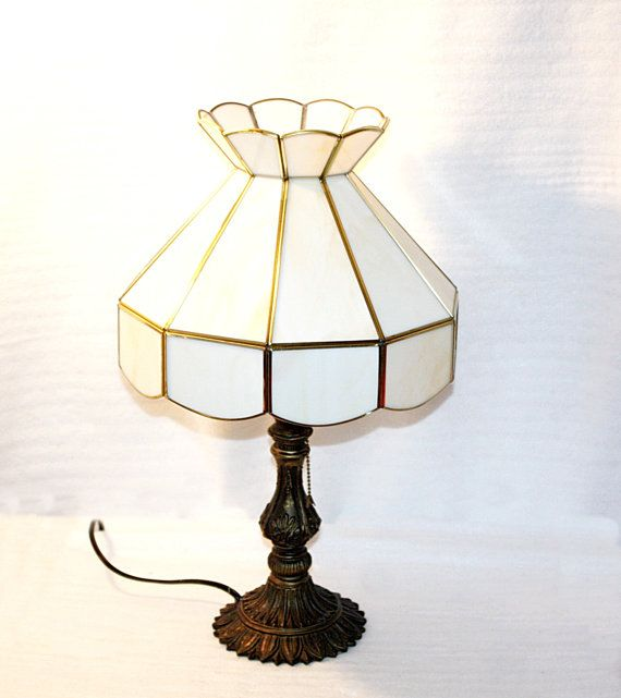 vintage slag glass shaded table lamp shade is by - Lamp Shades For Table Lamps