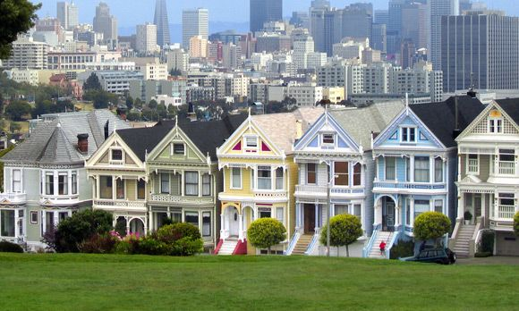 Victorian style houses. San Francisco.