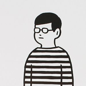 Noritake / NOTE BORDER BOY  ゆるいボーダーめがね男子の絵が好きです。