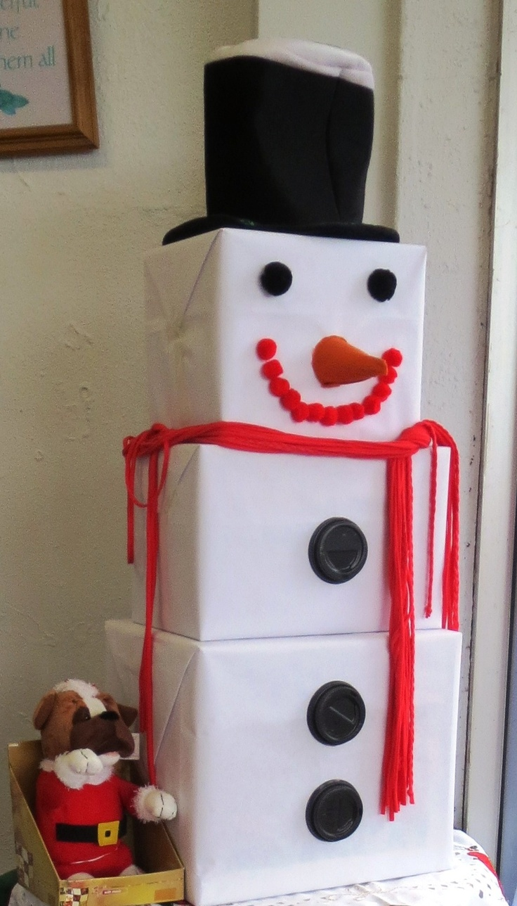 17 best images about winter wonderland gym decor on for Snowman made out of cups