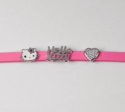 a pretty pink hello kitty bracelet for a little girl...