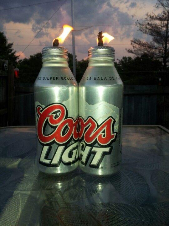Coors Light tiki torch