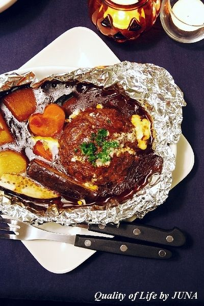 ジューシーチーズinハンバーグの包み焼き