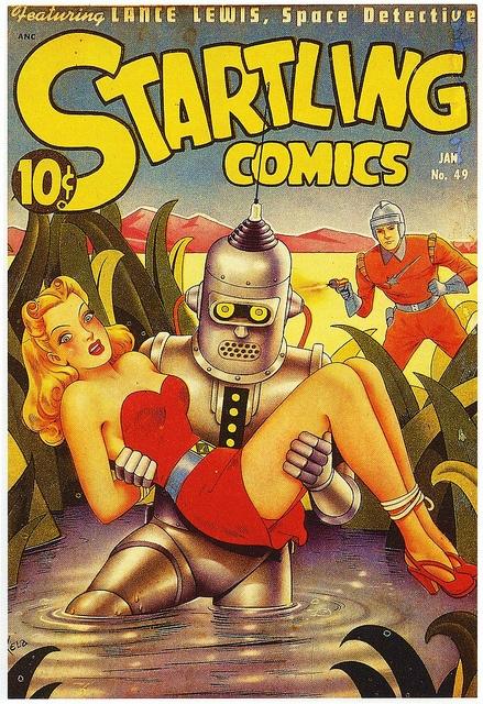 Startling ComicsRobots, Comics Book, Scifi, Comics Covers, Alex Schomburg, Book Covers, Startled Comics, Golden Age, Alex O'Loughlin