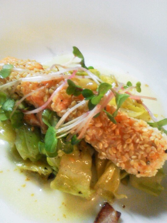 saumon en croute de graines de sesame