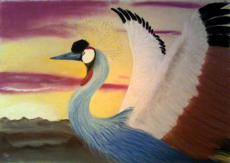 Crowned crane bird Ronald van der Kooij - Kraanvogel