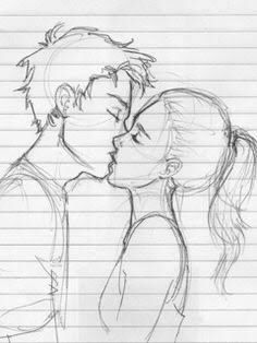 Love Is A Great Thing To Have Drawings Of Couples Kissing Drawing