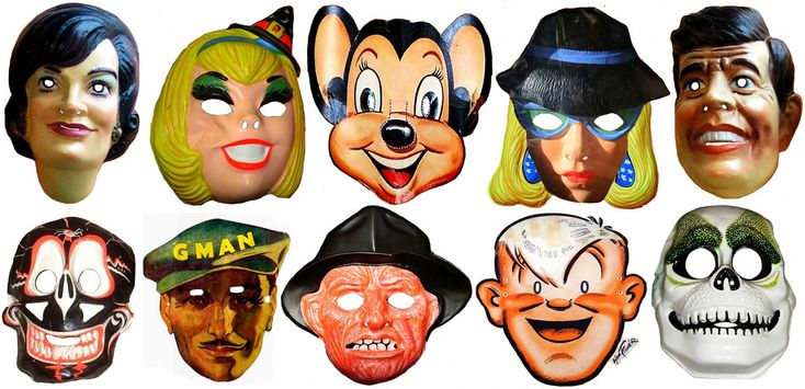 Halloween Mighty Mouse and Freddie Masks Newspaper Cartoon Strip Heroes Vintage - Jackie O Kennedy - Sabrina the Teenage Witch - Mighty Mouse - Lady Spy - John F Kennedy - Black and Red Spider Skull - G Man - Freddie Kruger Nightmare Man - Joe Palooka Boxer - Grinning White and Green Skull - Screen Grab Ben Cooper Collegeville Mask newspaper Sunday funnies comics holiday costume Halloween TV television cartoons Saturday Morning President Presidents First Lady Onassis Government operative…