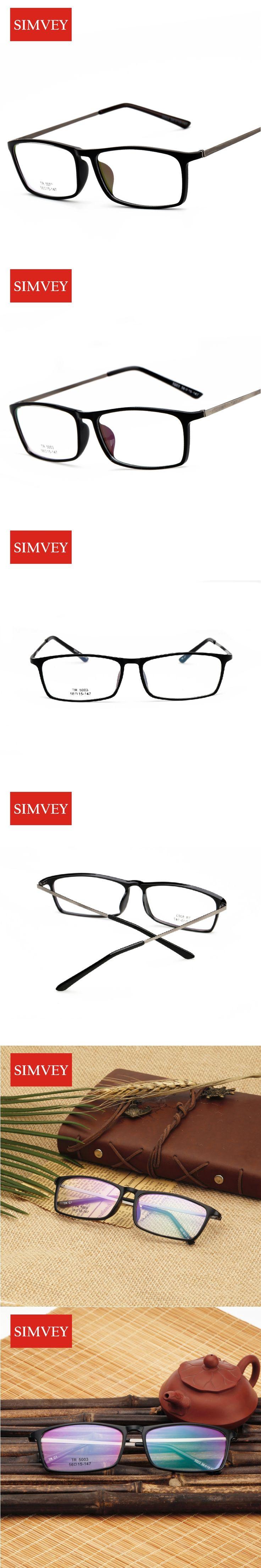 Simvey Korean Retro Designer Nerd Glasses Frames Clear Fashion Square Glasses Eye Glasses Frames for Men TR90