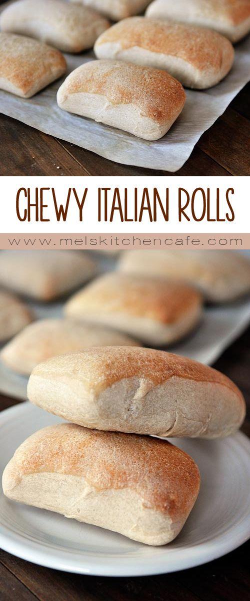 These Chewy Italian Rolls are rustic Italian bread in mini form.
