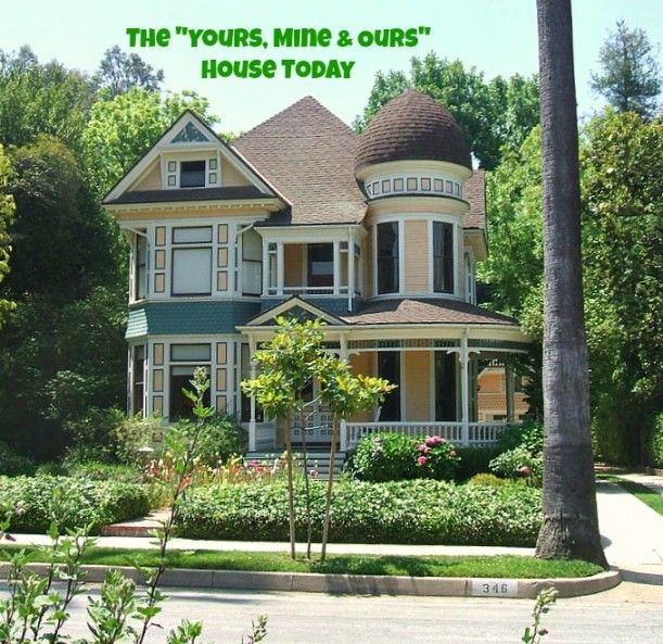 "The ""Yours, Mine & Ours"" house from the 1968 movie as it is today!  It is a real house in California and is still charming :-)"
