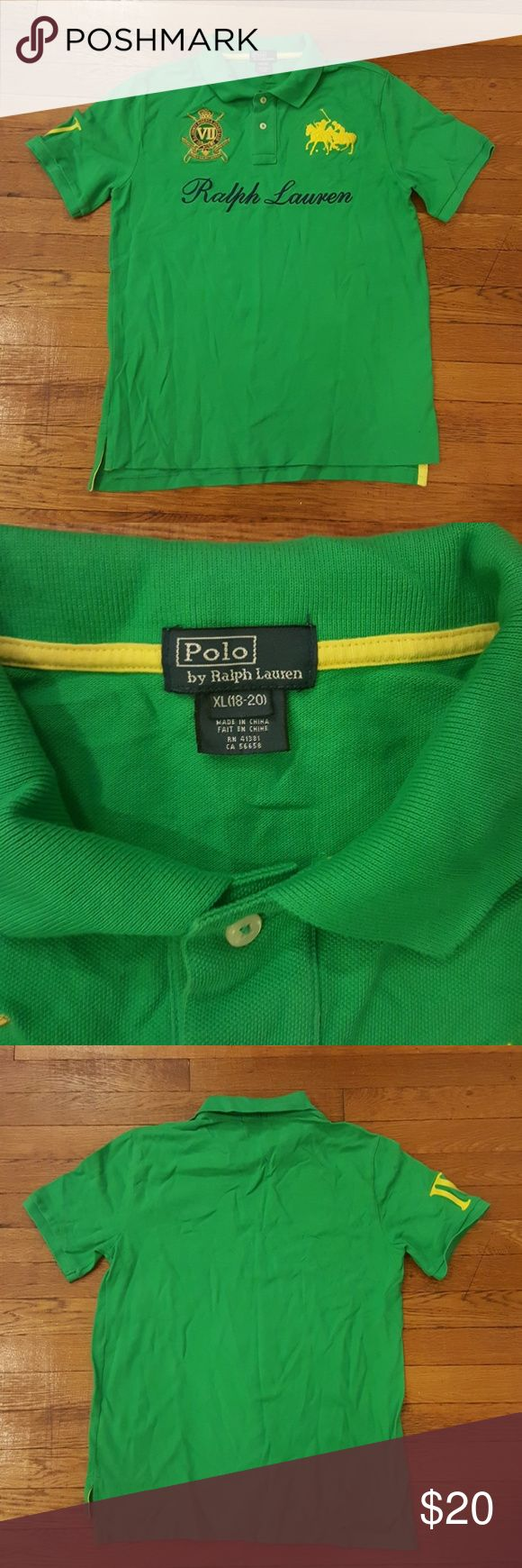 Ralph Lauren Polo shirt Embroidered polo shirt with Roman numeral 4 on right sleeve Polo by Ralph Lauren Shirts & Tops Polos