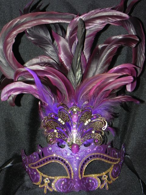Purple and Gold Venetian Metal Mask Purple by TheCraftyChemist07